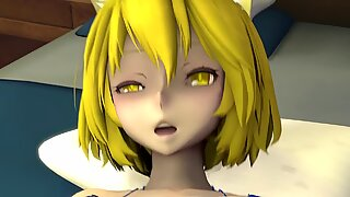 Maid Pleasures her Dark Demon Mistress