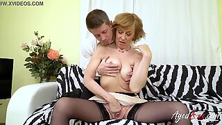 AgedLovE warm grannie nailing with Horny Youngster