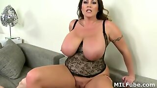 MOM WITH SUPER BIG TITS FUCKED LIKE A SLUT