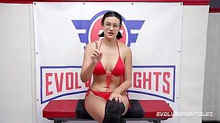 Büyük Memeli Güzeller Penny Kuaförü VS Carissa Montgomery Lezbiyen Seks Güreş