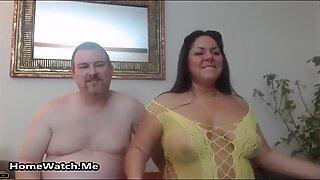Kövér and kívánós pár have wild sex on camera