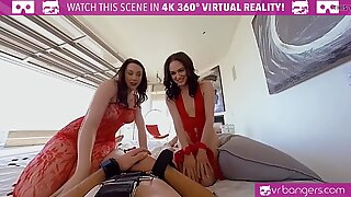 VR BANGERS Hot Mom Teaches Her Young Daughter How to Please