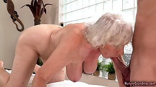 Sexy granny banged really hard