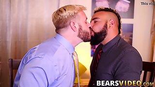 Chubby and hairy bear Luis Vega fucked by hunky John Thomas
