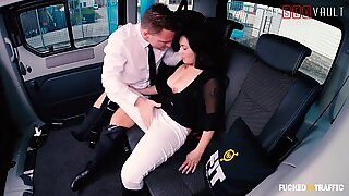 Fucked In Traffic - Petite Asian Brunette Rough Sex In Taxi - VipSexVault