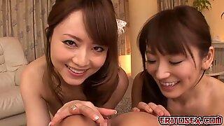 حار اليابانية جنس ثلاثي، حيث حصل هذان هؤلاء هجانه اليابانية بنات بنا