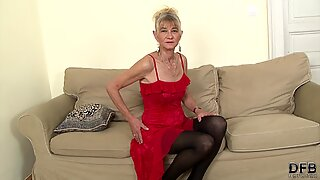 Granny fucked hard in ass by black she gets creampie
