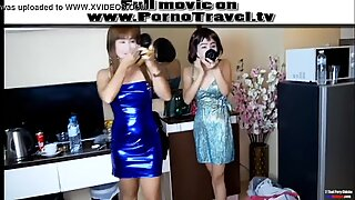 2 Thai party girl for a farang cock
